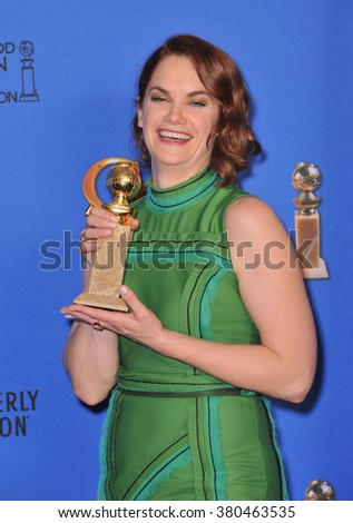 LOS ANGELES, CA - JANUARY 11, 2015: Ruth Wilson at the 72nd Annual Golden Globe Awards at the Beverly Hilton Hotel, Beverly Hills. - stock photo