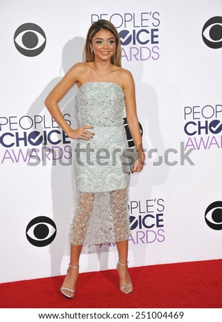 LOS ANGELES, CA - JANUARY 7, 2015: Sarah Hyland at the 2015 People's Choice  Awards at the Nokia Theatre L.A. Live downtown Los Angeles.