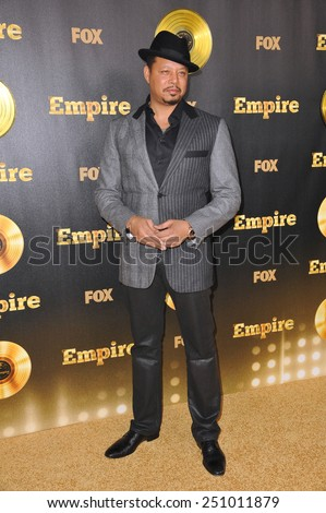 "LOS ANGELES, CA - JANUARY 6, 2015: Terrence Howard at the premiere of Fox's new TV series ""Empire"" at the Cinerama Dome, Hollywood.  - stock photo"