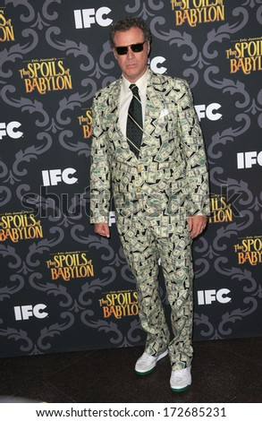 """LOS ANGELES, CA - JANUARY 7, 2014: Will Ferrell at the premiere of his TV series """"The Spoils of Babylon"""" at the Directors Guild of America Theatre.  - stock photo"""