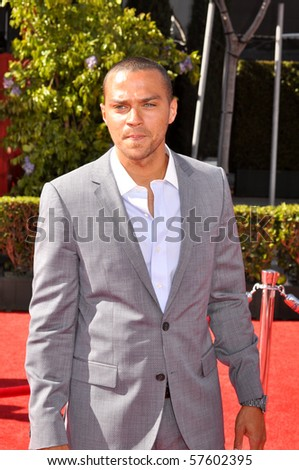 LOS ANGELES CA - JULY 15: An American actor and model Jesse Williams, on the red carpet of the 2010 ESPY Awards at the Nokia Theater at LA Live, on July 15, 2010 in Los Angeles, CA