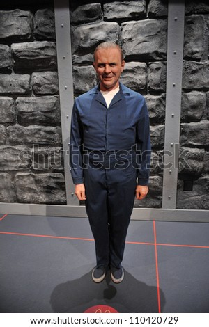 LOS ANGELES, CA - JULY 21, 2009: Anthony Hopkins waxwork figure - grand opening of Madame Tussauds Hollywood. - stock photo