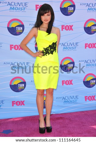 LOS ANGELES, CA - JULY 23, 2012: Ashley Rickards at the 2012 Teen Choice Awards at the Gibson Amphitheatre, Universal City.