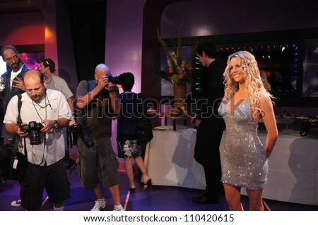 LOS ANGELES, CA - JULY 21, 2009: Britney Spears waxwork figure - grand opening of Madame Tussauds Hollywood. - stock photo