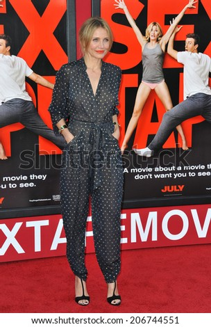 "LOS ANGELES, CA - JULY 10, 2014: Cameron Diaz at the world premiere of her movie ""Sex Tape"" at the Regency Village Theatre, Westwood.  - stock photo"
