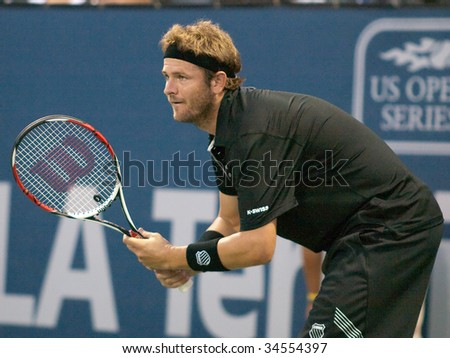 LOS ANGELES, CA. - JULY 30: Chris Guccione vs. Mardy Fish (pictured) at the L.A. Tennis Open July 30, 2009 in Los Angeles.