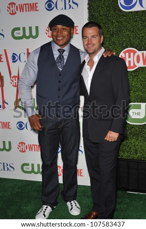 "LOS ANGELES, CA - JULY 28, 2010: Chris O'Donnell & LL Cool J - stars of ""NCIS: Los Angeles"" - at CBS TV Summer Press Tour Party in Beverly Hills."