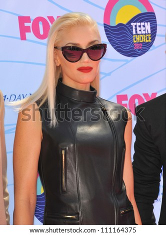 LOS ANGELES, CA - JULY 23, 2012: Gwen Stefani of No Doubt at the 2012 Teen Choice Awards at the Gibson Amphitheatre, Universal City. - stock photo