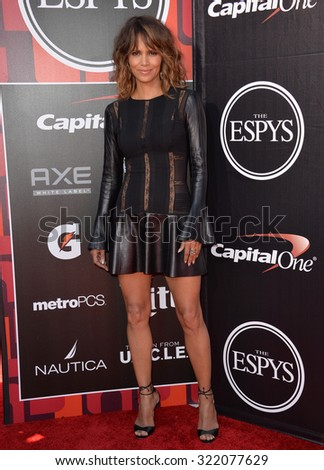 LOS ANGELES, CA - JULY 15, 2015: Halle Berry at the 2015 ESPY Awards at the Microsoft Theatre LA Live.