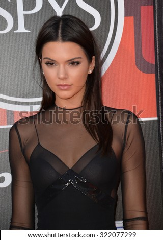 LOS ANGELES, CA - JULY 15, 2015: Kendall Jenner at the 2015 ESPY Awards at the Microsoft Theatre LA Live.