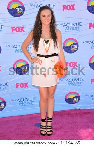 LOS ANGELES, CA - JULY 23, 2012: Madeleine Carroll at the 2012 Teen Choice Awards at the Gibson Amphitheatre, Universal City.