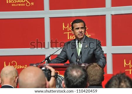 LOS ANGELES, CA - JULY 21, 2009: Mayor Antonio Villaraigosa - grand opening of Madame Tussauds Hollywood. - stock photo