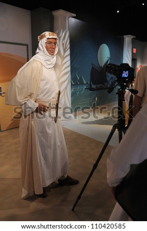 LOS ANGELES, CA - JULY 21, 2009: Peter O'Toole waxwork figure - grand opening of Madame Tussauds Hollywood. - stock photo