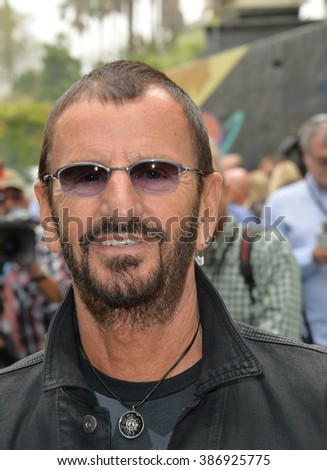 LOS ANGELES, CA - JULY 7, 2015: Ringo Starr at photocall at Capitol Records, Hollywood, to celebrate his 75th birthday.