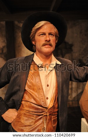 LOS ANGELES, CA - JULY 21, 2009: Robert Redford waxwork figure - grand opening of Madame Tussauds Hollywood. - stock photo