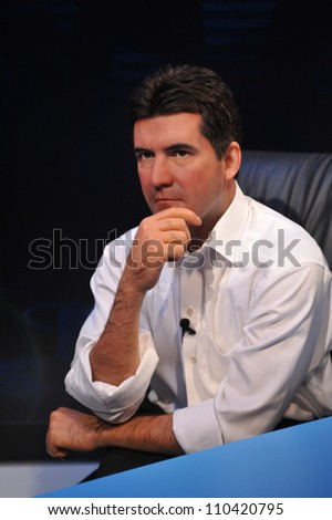 LOS ANGELES, CA - JULY 21, 2009: Simon Cowell waxwork figure - grand opening of Madame Tussauds Hollywood. - stock photo