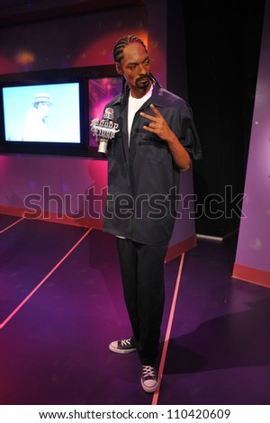 LOS ANGELES, CA - JULY 21, 2009: Snoop Dogg waxwork figure - grand opening of Madame Tussauds Hollywood. - stock photo
