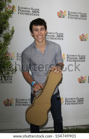 LOS ANGELES, CA - JUN 3: Max Schneider at the 23rd Annual 'A Time for Heroes' Celebrity Picnic Benefitting the Elizabeth Glaser Pediatric AIDS Foundation on June 3, 2012 in Los Angeles, California