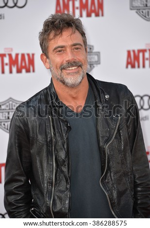 "LOS ANGELES, CA - JUNE 29, 2015: Actor Jeffrey Dean Morgan at the world premiere of ""Ant-Man"" at the Dolby Theatre, Hollywood."