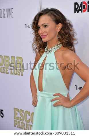 "LOS ANGELES, CA - JUNE 22, 2015: Actress/dancer Karina Smirnoff at the Los Angeles premiere of ""Escobar: Paradise Lost"" at the Arclight Theatre, Hollywood.   - stock photo"
