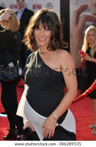 "LOS ANGELES, CA - JUNE 29, 2015: Actress Evangeline Lilly at the world premiere of her movie ""Ant-Man"" at the Dolby Theatre, Hollywood."