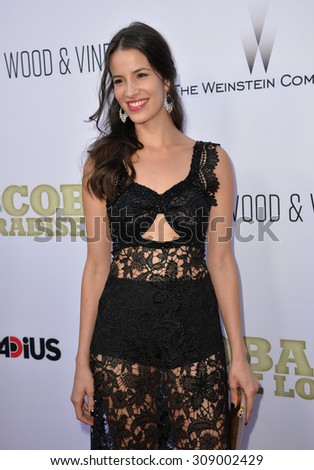 "LOS ANGELES, CA - JUNE 22, 2015: Actress Laura Londono at the Los Angeles premiere of her movie ""Escobar: Paradise Lost"" at the Arclight Theatre, Hollywood.   - stock photo"