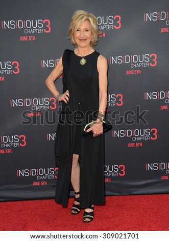 LOS ANGELES, CA - JUNE 5, 2015: Actress Lin Shaye at the world premiere of her movie Insidious Chapter 3 at the TCL Chinese Theatre, Hollywood.