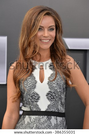 """LOS ANGELES, CA - JUNE 28, 2015: Actress/singer Anna Fantastic, aka Anna Garcia, at the Los Angeles premiere of """"Terminator Genisys"""" at the Dolby Theatre, Hollywood. - stock photo"""