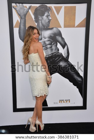 """LOS ANGELES, CA - JUNE 25, 2015: Actress Sofia Vergara at the world premiere of """"Magic Mike XXL"""" at the TCL Chinese Theatre, Hollywood. - stock photo"""
