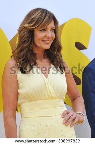 "LOS ANGELES, CA - JUNE 27, 2015: Allison Janney at the Los Angeles premiere of her movie ""Minions"" at the Shrine Auditorium."