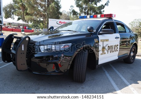LOS ANGELES, CA. -  JUNE 29 : American Heroes Air Show - Chula Vista  Police car  on June 29, 2013 in Los Angeles, CA. - stock photo