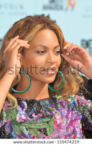 LOS ANGELES, CA - JUNE 28, 2009: Beyonce Knowles at the 2009 BET Awards (Black Entertainment Television) at the Shrine Auditorium. - stock photo
