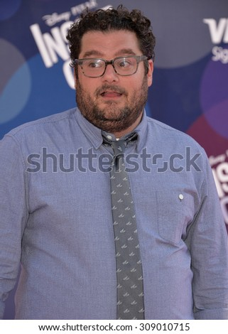 """LOS ANGELES, CA - JUNE 9, 2015: Bobby Moynihan at the Los Angeles premiere of his movie Disney-Pixar's """"Inside Out"""" at the El Capitan Theatre, Hollywood.  - stock photo"""