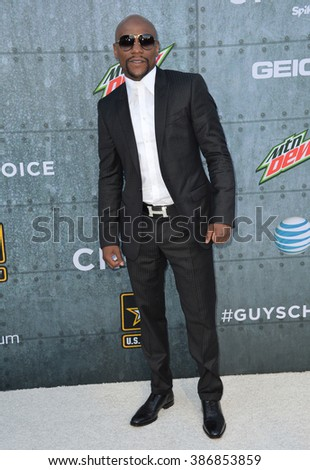 LOS ANGELES, CA - JUNE 7, 2015: Boxer Floyd Mayweather at Spike TV's 2015 Guys Choice Awards at Sony Studios, Culver City. - stock photo
