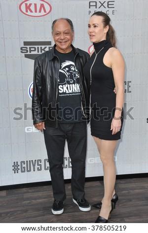 LOS ANGELES, CA - JUNE 7, 2014: Cheech Marin & Natasha Marin at Spike TV's 2014 Guys Choice Awards at Sony Studios, Culver City. - stock photo