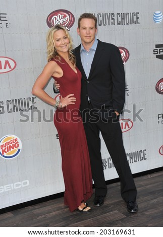 LOS ANGELES, CA - JUNE 7, 2014: Cole Hauser & Cynthia Daniel at Spike TV's 2014 Guys Choice Awards at Sony Studios, Culver City.  - stock photo