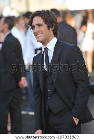 "LOS ANGELES, CA - JUNE 9, 2012: Diego Boneta at the world premiere of his new movie ""Rock of Ages"" at Grauman's Chinese Theatre, Hollywood. June 9, 2012  Los Angeles, CA"