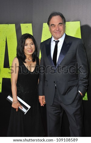 "LOS ANGELES, CA - JUNE 26, 2012: Director Oliver Stone at the world premiere of his new movie  ""Savages"" at Mann Village Theatre, Westwood."