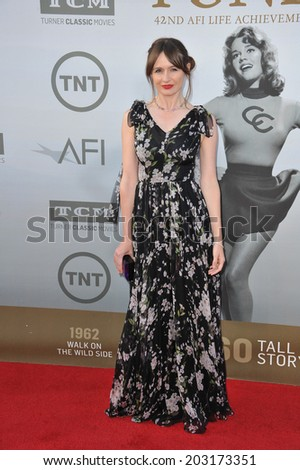 LOS ANGELES, CA - JUNE 5, 2014: Emily Mortimer at the 2014 American Film Institute's Life Achievement Awards honoring Jane Fonda, at the Dolby Theatre, Hollywood.  - stock photo