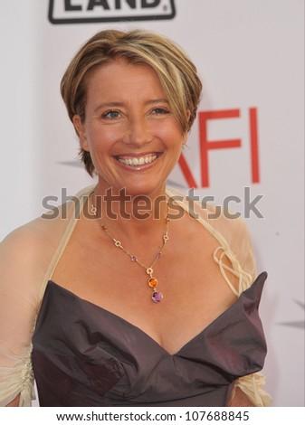 LOS ANGELES, CA - JUNE 10, 2010: Emma Thompson at the 2010 AFI Life achievement Award Gala, honoring director Mike Nichols, at Sony Studios, Culver City, CA. - stock photo