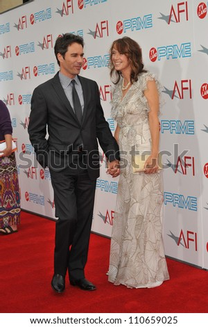LOS ANGELES, CA - JUNE 11, 2009: Eric McCormack & wife Janet Holden at the 37th AFI Life Achievement Award Gala at Sony Studios, Los Angeles