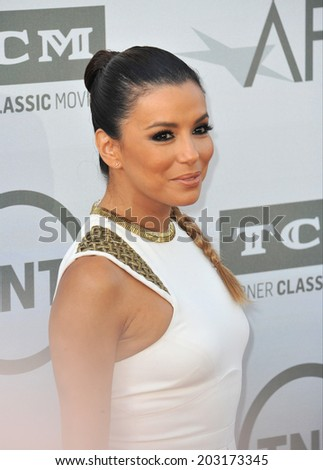 LOS ANGELES, CA - JUNE 5, 2014: Eva Longoria at the 2014 American Film Institute's Life Achievement Awards honoring Jane Fonda, at the Dolby Theatre, Hollywood.