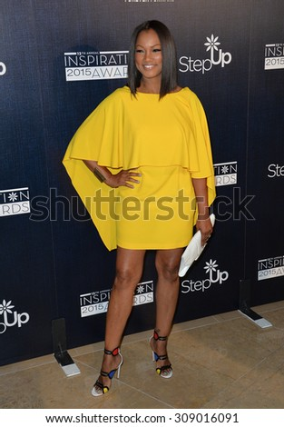LOS ANGELES, CA - JUNE 5, 2015: Garcelle Beauvais at the Step Up Women's Network 12th Annual Inspiration Awards at the Beverly Hilton Hotel..