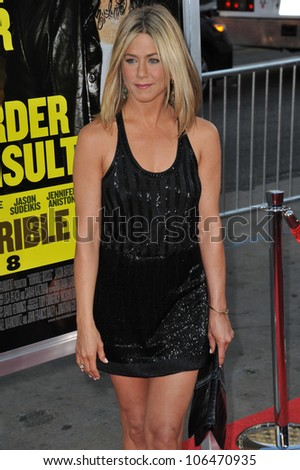 """LOS ANGELES, CA - JUNE 30, 2011: Jennifer Aniston at the Los Angeles premiere of her new movie """"Horrible Bosses"""" at Grauman's Chinese Theatre, Hollywood. June 30, 2011  Los Angeles, CA - stock photo"""