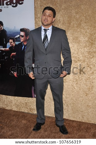 "LOS ANGELES, CA - JUNE 16, 2010: Jerry Ferrara at the season seven premiere of his TV series ""Entourage"" at Paramount Studios, Hollywood."