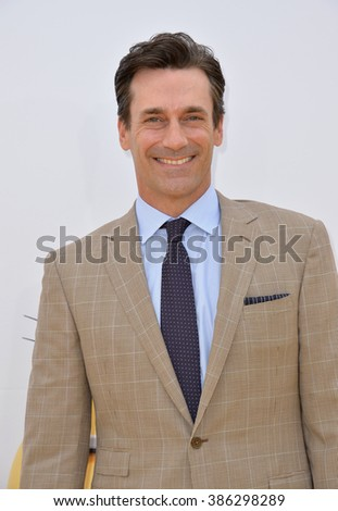 "LOS ANGELES, CA - JUNE 27, 2015: Jon Hamm at the Los Angeles premiere of his movie ""Minions"" at the Shrine Auditorium."