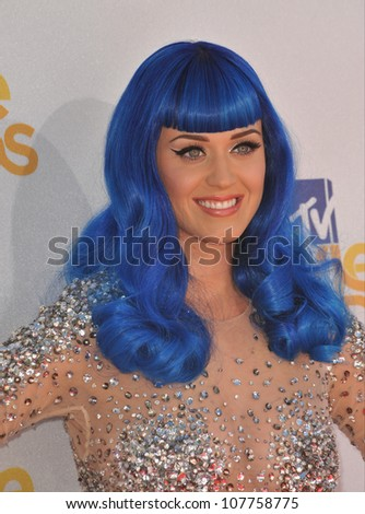 LOS ANGELES, CA - JUNE 6, 2010: Katy Perry at the 2010 MTV Movie Awards at the Gibson Amphitheatre, Universal Studios, Hollywood. - stock photo