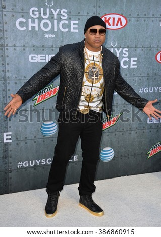 LOS ANGELES, CA - JUNE 7, 2015: LL Cool J at Spike TV's 2015 Guys Choice Awards at Sony Studios, Culver City. - stock photo