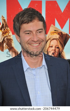"LOS ANGELES, CA - JUNE 30, 2014: Mark Duplass at the premiere of his movie ""Tammy"" at the TCL Chinese Theatre, Hollywood.  - stock photo"