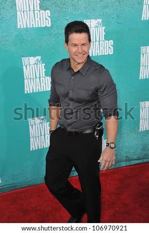 LOS ANGELES, CA - JUNE 4, 2012: Mark Wahlberg at the 2012 MTV Movie Awards at Universal Studios, Hollywood. June 4, 2012  Los Angeles, CA - stock photo